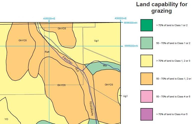 Grazing land use capability map